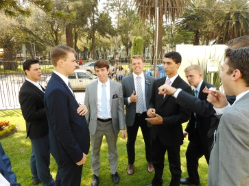 Elder Smith companion from Tucson (in black jacket on left) Elder Smith NOT companion from Austin (in grey jacket and thumbs up in middle)