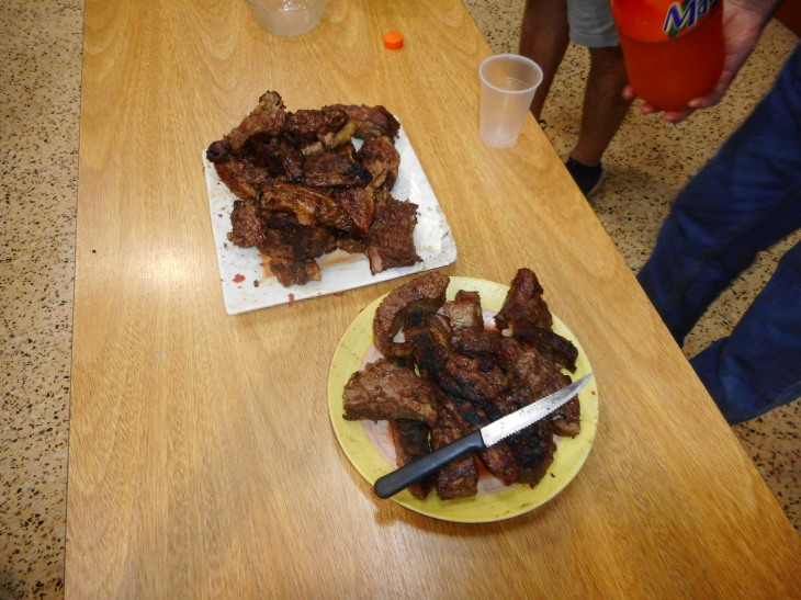 Some of the Asado (BBQ) meat