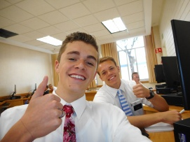 Tate and Elder Smith