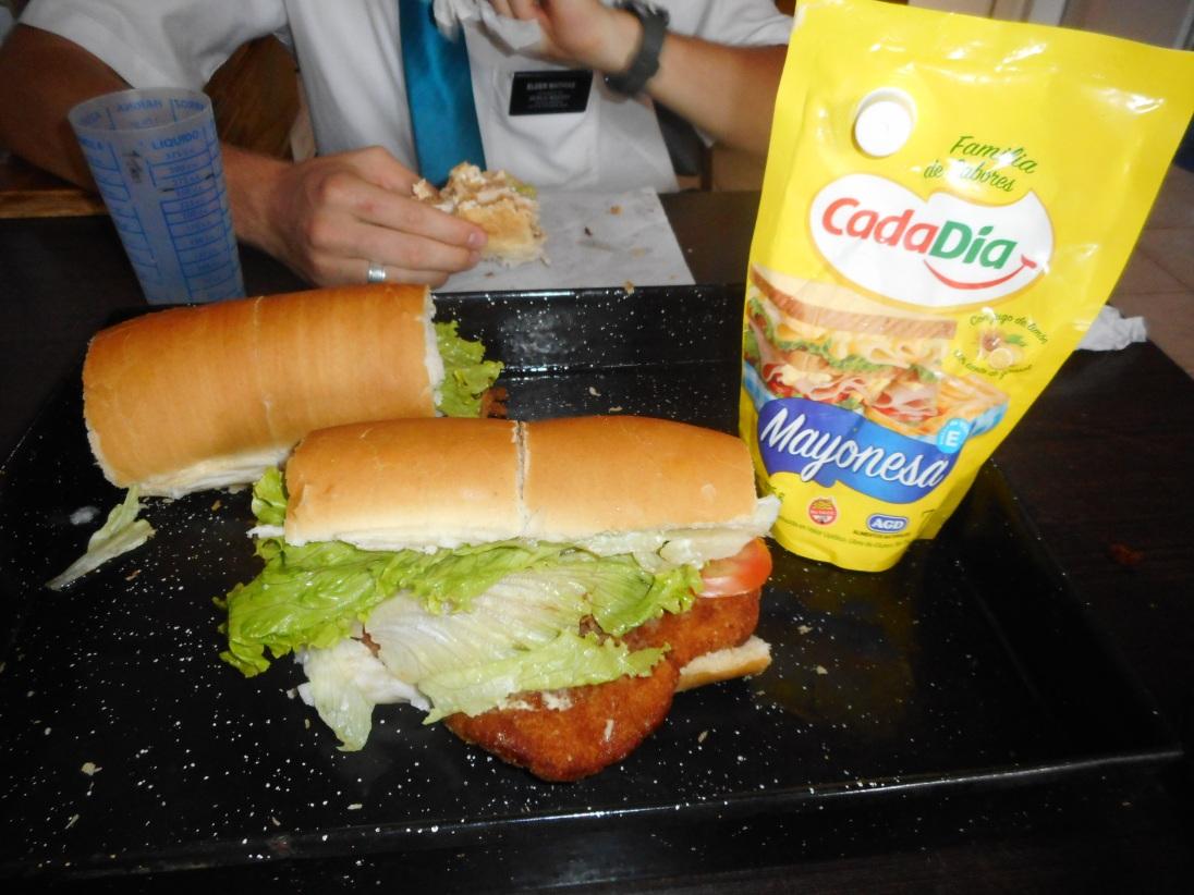 Milanesa Sandwich & bag of Mayo