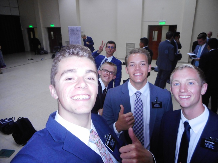 Elder Smith (Tate's MTC/CCM buddy) was trained by his current comp E. Nixon