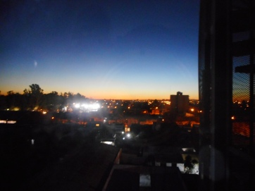 Sunset from Zone Leader's apartment