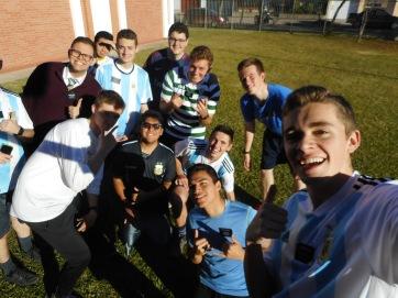 Soccer activity with Pergamino Elders