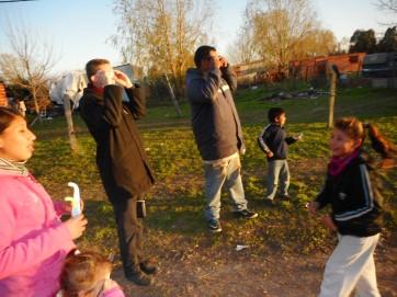 Eclipse w/ Norberto's family & Allan
