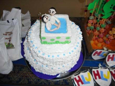 Baptism cake - hahaha